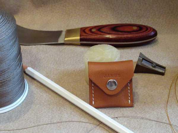 RoyalPoint Janus Sharpener Case Brown Leather