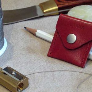 RoyalPoint Janus Sharpener Case Red Leather