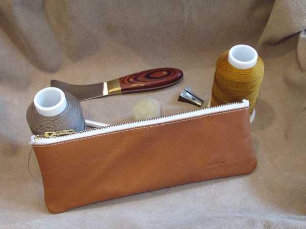 RoyalPoint Janus Long Pencil Case Brown Leather